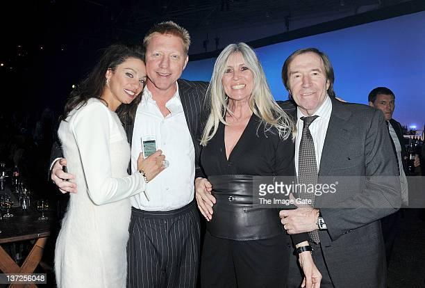 Lilly Becker, former tennis player Boris Becker, Elvira Netzer and Guenter Netzer attend the IWC Schaffhausen Top Gun Gala Event during the 22nd SIHH...