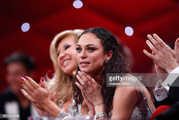 Lilly Becker gestures during the 1st Show of 'Let's Dance' on RTL at Coloneum on March 28 2014 in Cologne Germany