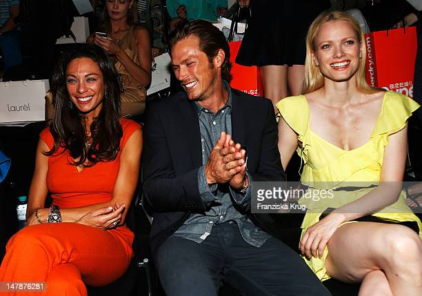 Lilly Becker Jason Lewis and Franziska Knuppe sit in front row during the runway at the Laurel Show during the MercedesBenz Fashion Week...