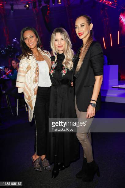 Lilly Becker Mirja du Mont and Alessandra MeyerWoelden during the start of the ad campaign Das Gute in Dir by Kaufland at Gasometer on November 27...