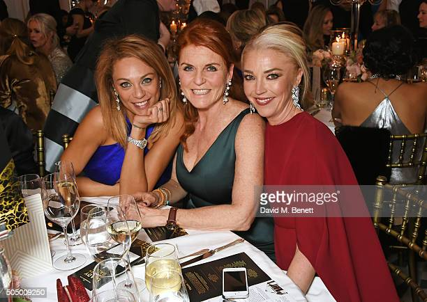 Lilly Becker Sarah Ferguson Duchess of York and Tamara Beckwith attend The Lady Garden Gala hosted by Chopard in aid of Silent No More Gynaecological...