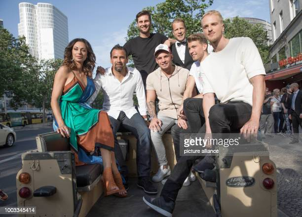 Lilly Becker Ulf Kirsten Maurice Gajda Pietro Lombardi Oliver Pocher Raul Richter and Mario Galla arrive at the preview of the ProSieben show Global...