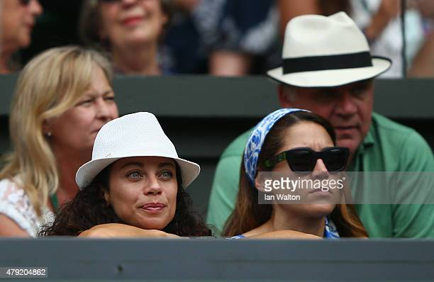 Lilly Becker watches Sabine Lisicki of Germany against Christina McHale of USA in the Women's Singles Second Round match during day four of the...