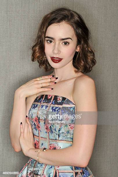 Lilly Collins attends the Lacome pre BAFTA party at The London Edition Hotel on February 14 2014 in London England