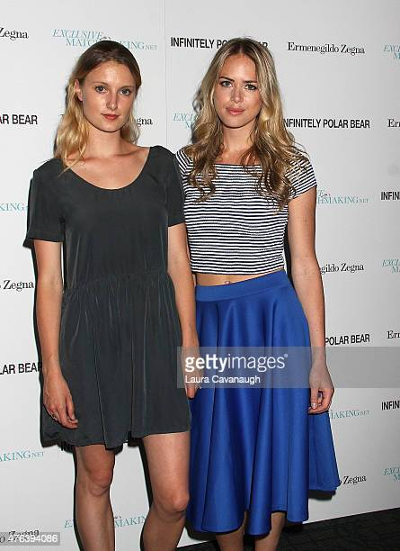 Lilly Englert and Theodora Woolley attend the Infinitely Polar Bear New York premiere at the Sunshine Landmark on June 8 2015 in New York City