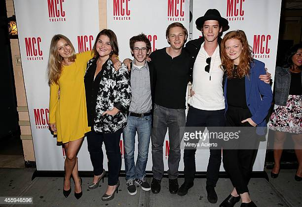 Lilly Englert Annie Funke Noah Robbins Will Pullen Pico Alexander and Colby Minifie attend The Money Shot Opening Night after party at 49 Grove on...
