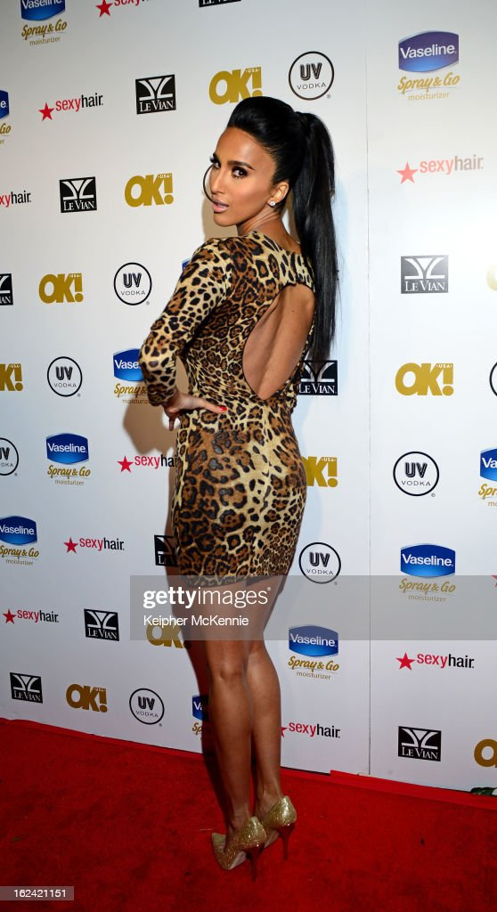 Lilly Ghalichi steps on the red carpet at OK! Magazine Pre-Oscar Party at The Emerson Theatre on February 22, 2013 in Hollywood, California.