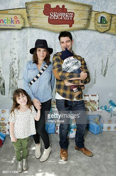 Lilly Greenfield Tess Greenfield actor Max Greenfield and Ozzie Greenfield attend 2015 Santa's Secret Workshop Benefiting LA Family Housing at Andaz...