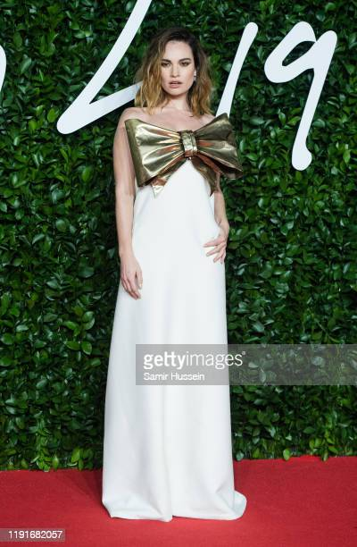 Lilly James arrives at The Fashion Awards 2019 held at Royal Albert Hall on December 02 2019 in London England