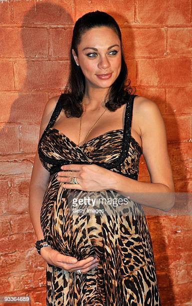 Lilly Kerssenberg, pregnant wife of Boris Becker, attends the Superbrands Award on November 24, 2009 in Dusseldorf, Germany.