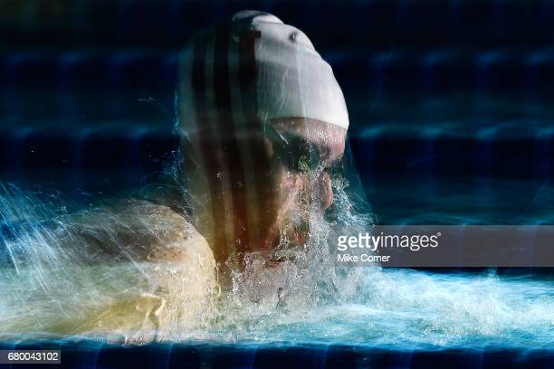 Lilly King competes in a preliminary heat of the Women's 200m Breaststroke during day four of the Arena Pro Swim Series swim meet at the Georgia Tech...