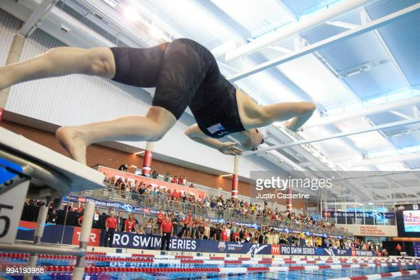 Lilly King competes in the women's 100m breaststroke final at the 2018 TYR Pro Series on July 8 2018 in Columbus Ohio