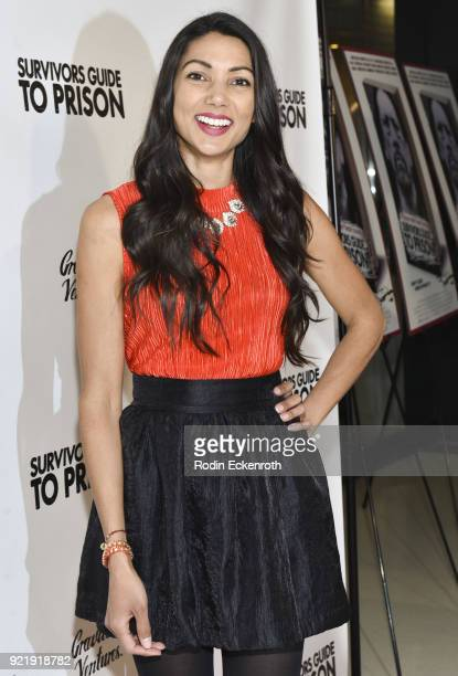 Lilly Lawrence attends the premiere of Gravitas Pictures' 'Survivors Guide To Prison' at The Landmark on February 20 2018 in Los Angeles California