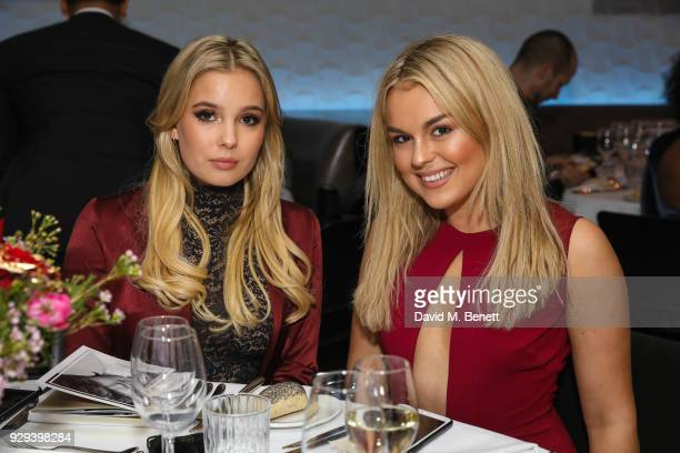 Lilly Mackie and Tallia Storm attend The BARDOU Foundation's International Women's Day IWD private dinner at The Hospital Club on March 8 2018 in...
