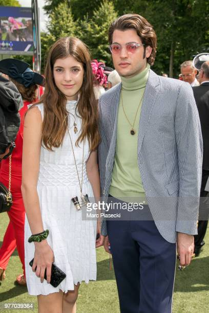 Lilly Margaret Brant and Peter Brant II attend the Prix de Diane Longines 2018 at Hippodrome de Chantilly on June 17 2018 in Chantilly France
