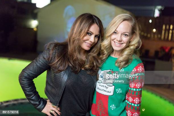 Lilly Melgar and Abby Wathen attend The Bay Ugly Sweater And Secret Santa Christmas Party at Private Residence on December 12 2017 in Los Angeles...