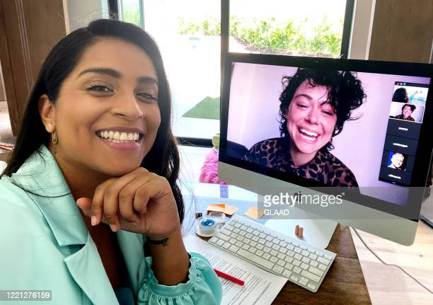 """Lilly Singh and Tatiana Maslany speak during GLAAD presents """"Together in Pride: You are Not Alone,"""" a star-studded livestream event highlighting the..."""