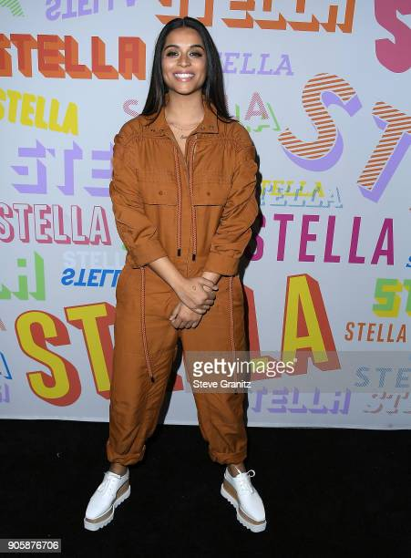 Lilly Singh arrives at the Stella McCartney's Autumn 2018 Collection Launch on January 16 2018 in Los Angeles California