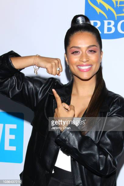 Lilly Singh arrives to WE Day Toronto and the WE Carpet at Scotiabank Arena on September 20 2018 in Toronto Canada