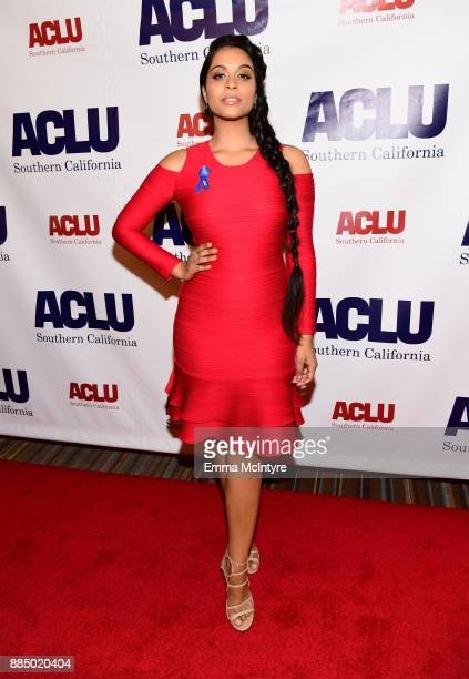 Lilly Singh attends ACLU SoCal Hosts Annual Bill of Rights Dinner at the Beverly Wilshire Four Seasons Hotel on December 3 2017 in Beverly Hills...