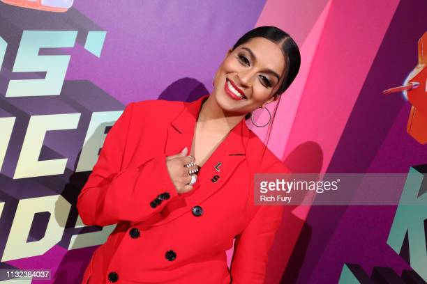Lilly Singh attends Nickelodeon's 2019 Kids' Choice Awards at Galen Center on March 23 2019 in Los Angeles California
