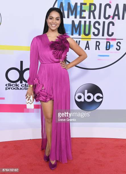 Lilly Singh attends the 2017 American Music Awards at Microsoft Theater on November 19 2017 in Los Angeles California