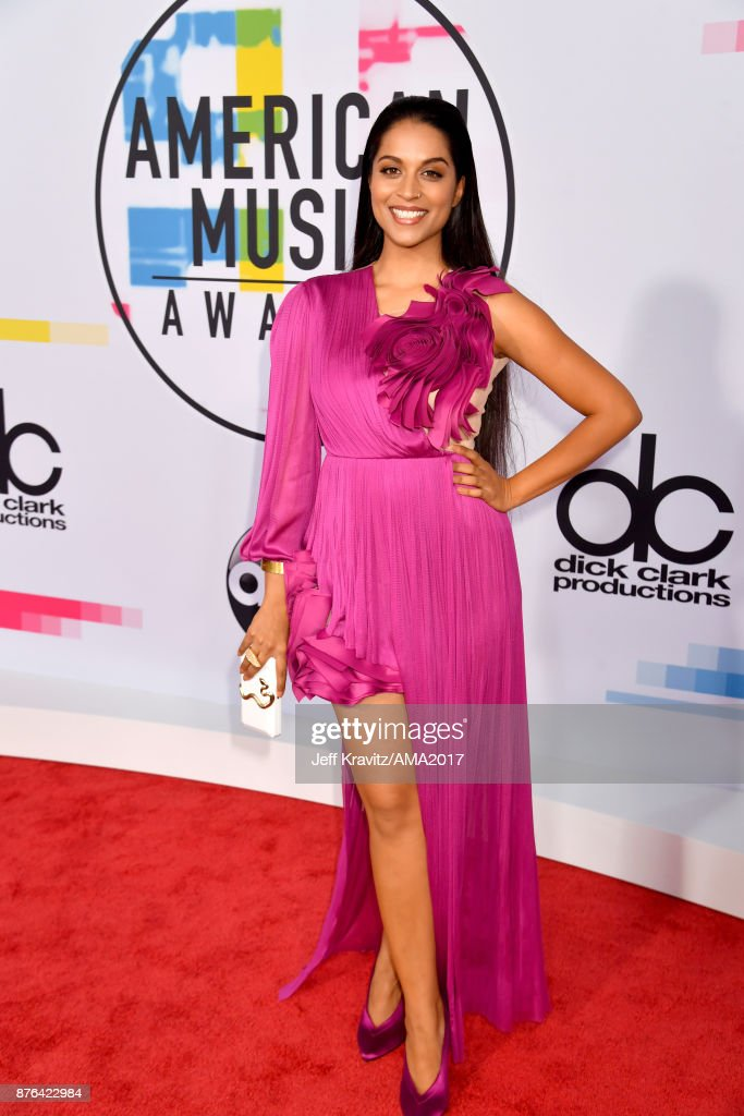 Lilly Singh attends the 2017 American Music Awards at Microsoft Theater on November 19, 2017 in Los Angeles, California.