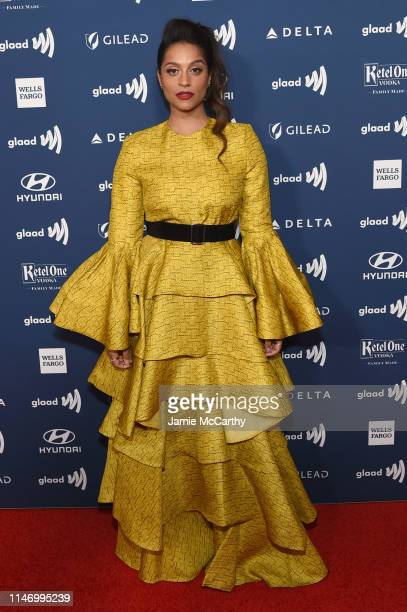 Lilly Singh attends the 30th Annual GLAAD Media Awards New York at New York Hilton Midtown on May 04 2019 in New York City