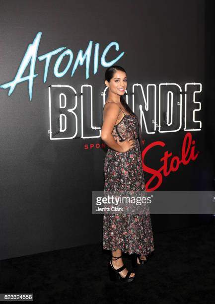 Lilly Singh attends the American premiere of Atomic Blonde starring Oscar awardwinning actress Charlize Theron at The Theatre At The Ace Hotel on...