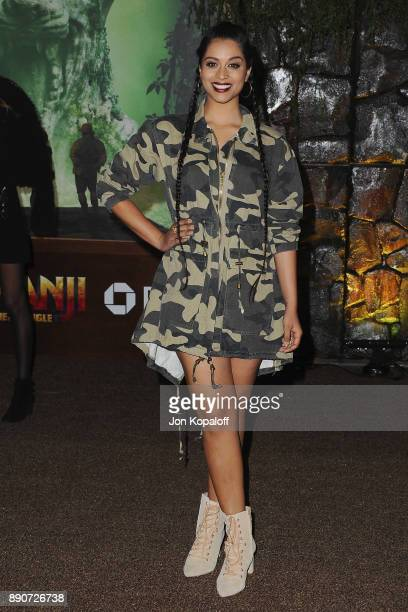Lilly Singh attends the Los Angeles Premiere 'Jumanji Welcome To The Jungle' at the TCL Chinese Theatre on December 11 2017 in Hollywood California