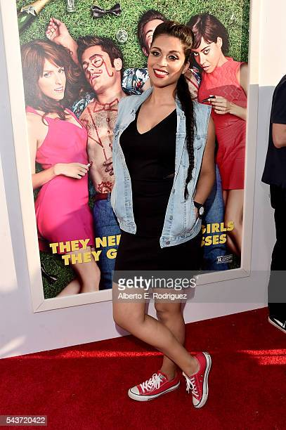 Lilly Singh attends the premiere of 20th Century Fox's Mike and Dave Need Wedding Dates at ArcLight Cinemas Cinerama Dome on June 29 2016 in Los...