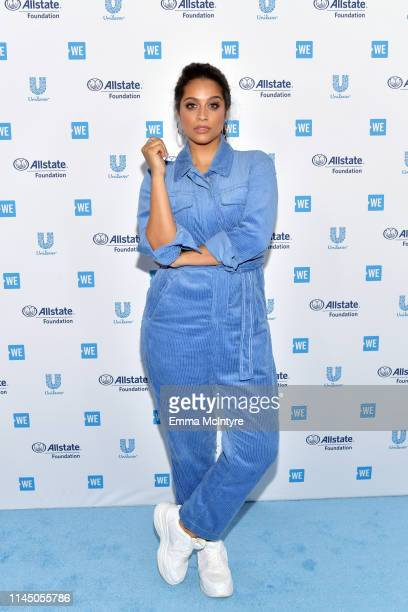 Lilly Singh attends WE Day California at The Forum on April 25, 2019 in Inglewood, California.