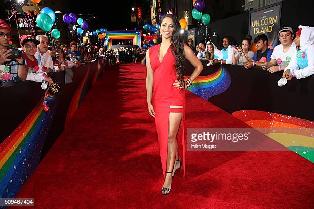 Lilly Singh attends YouTube Red Original Premiere of 'A Trip To Unicorn Island' at TCL Chinese Theatre on February 10 2016 in Los Angeles California