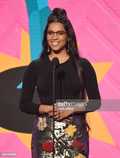 Lilly Singh onstage during the 2017 Streamy Awards at The Beverly Hilton Hotel on September 26 2017 in Beverly Hills California