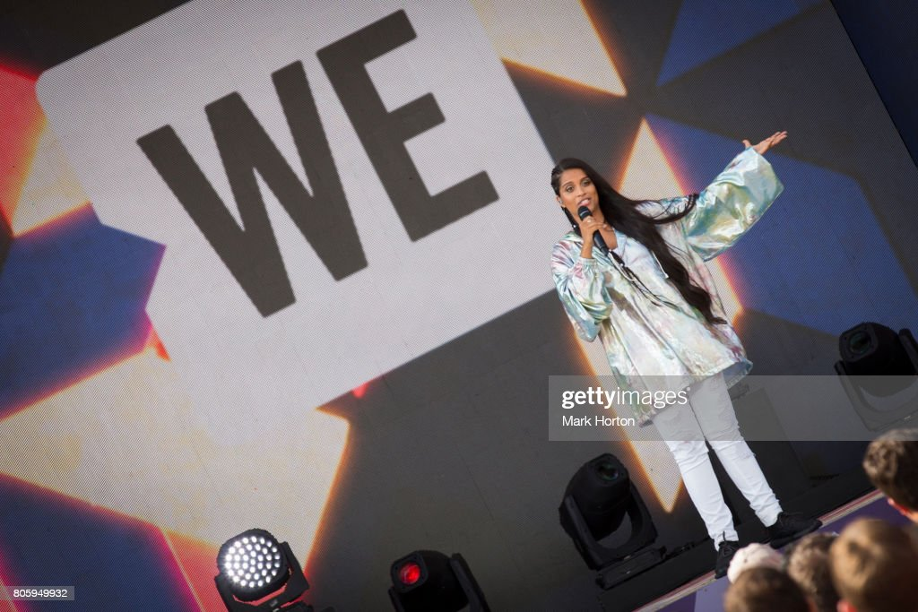 Lilly Singh performs at We Day Canada at Parliament Hill on July 2, 2017 in Ottawa, Canada.