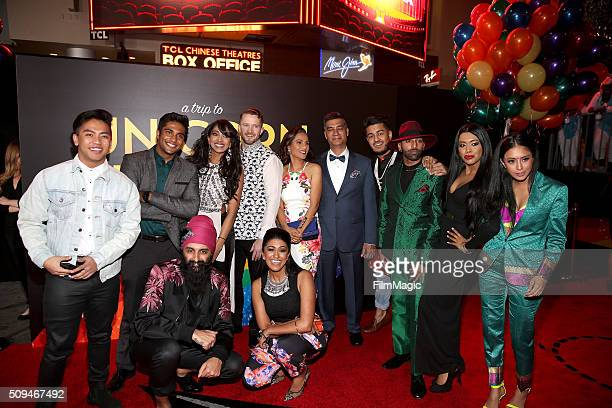 Lilly Singh's family and friends attend YouTube Red Original Premiere of 'A Trip To Unicorn Island' at TCL Chinese Theatre on February 10 2016 in Los...