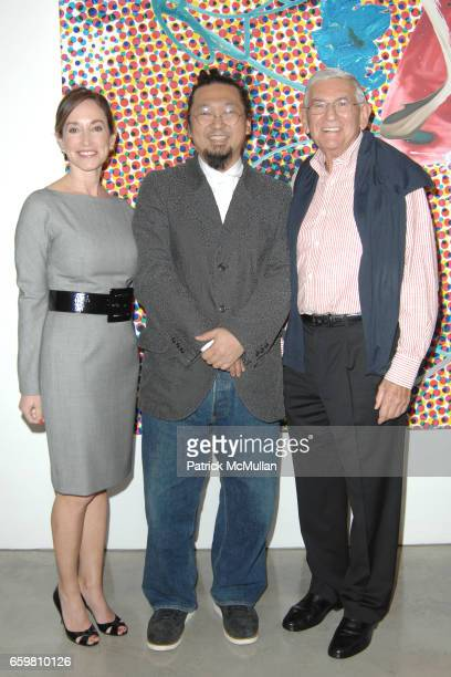 Lilly Tartikoff Takashi Murakami and Eli Broad attend Larry Gagosian Hosts Private Reception and Brunch to Celebrate Jeff Koons New Paintings at...