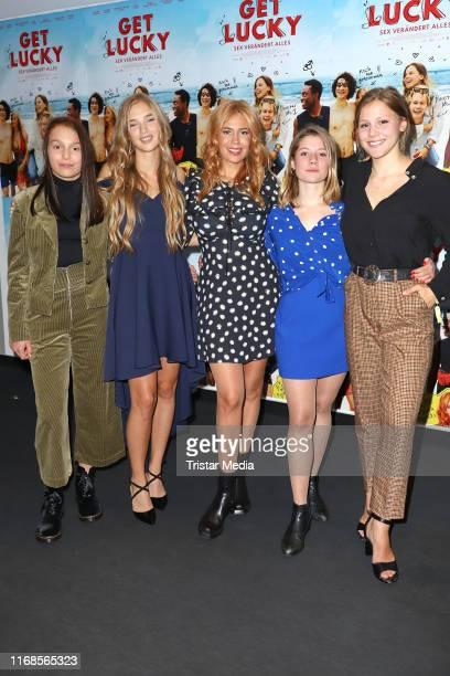 Lilly Terzic Luissa Cara Hansen Palina Rojinski Rieke Seja and EmmaKatharina Suthe attend the 'Get Lucky Sex veraendert alles' premiere at CinemaxX...