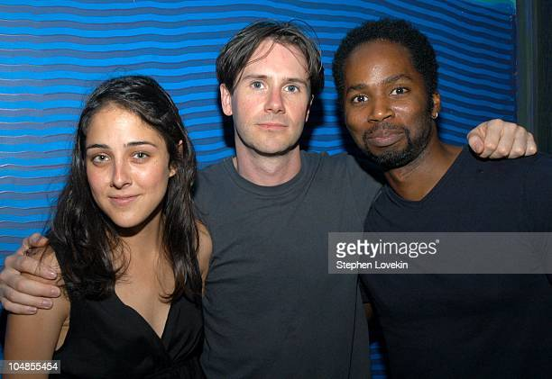 Lilly Thorn Josh Hamilton and Harold Perrineau during Opening Day Party for the New Film 'On_Line' at The Coral Room in New York City NY United States