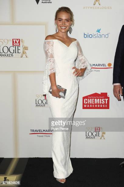 Lilly Van der Meer arrives at the 59th Annual Logie Awards at Crown Palladium on April 23 2017 in Melbourne Australia