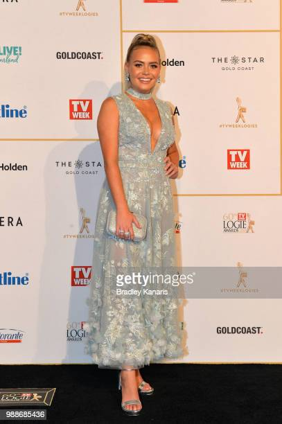 Lilly Van Der Meer arrives at the 60th Annual Logie Awards at The Star Gold Coast on July 1 2018 in Gold Coast Australia