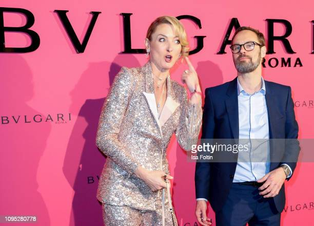 Lilly zu Sayn Wittgenstein and Bart de Boever during the Bulgari party with the motto #Starsinbulgari on February 7 2019 in Berlin Germany