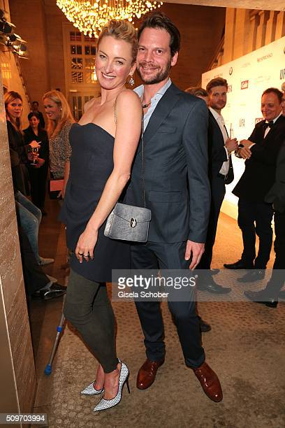 Lilly zu SaynWittgenstein and her boyfriend Nikolaus Bery during the 'Berlin Opening Night of GALA UFA Fiction' at Das Stue Hotel on February 11 2016...