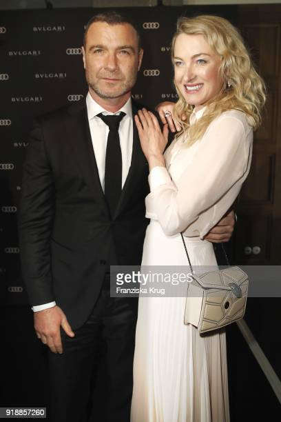 Lilly zu SaynWittgensteinBerleburg and Liev Schreiber during the Bulgari 'RVLE YOUR NIGHT' event during the 68th Berlinale International Film...