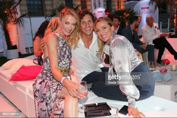 Lilly zu SaynWittgensteinBerleburg and Sanny van Heteren and her boyfriend Inaki Lopez Esparza during the Raffaello Summer Day 2017 to celebrate the...