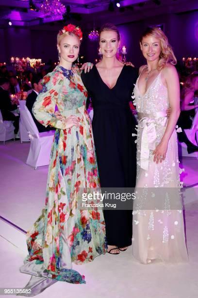 Lilly zu SaynWittgensteinBerleburg Maria HoeflRiesch wearing a dress by Minx and Franziska Knuppe during the Rosenball charity event at Hotel...