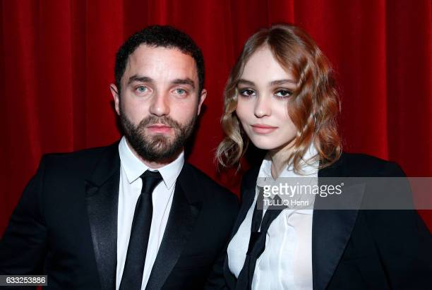 LillyRose Depp and Guillaume Gouix pose for Paris Match at the evening gala by Chaumet for the Young actors named for Les Cesars award 2017 on...