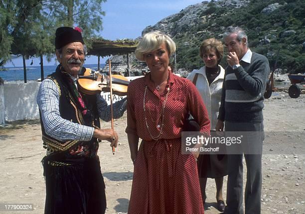 Lilo Kramm Einheimischer Touristen Rhodos Dodekanes Griechenland Europa Urlaub Geige Musikinstrument Tracht MW/LG