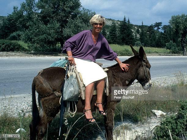 Lilo Kramm Rhodos Dodekanes Griechenland Europa Urlaub Esel Tier reiten Ritt MW/LG