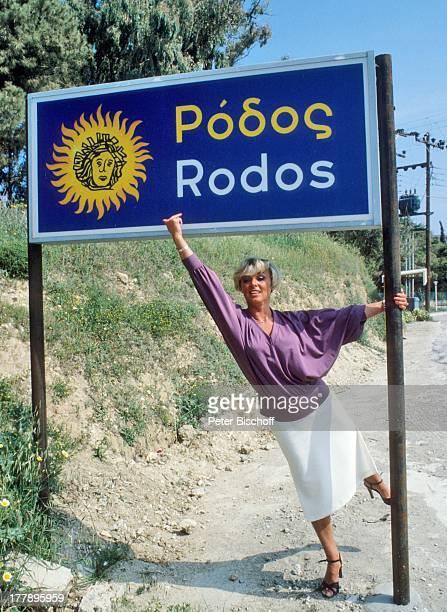 Lilo Kramm Rhodos Dodekanes Griechenland Europa Urlaub Schild Ortsschild MW/LG